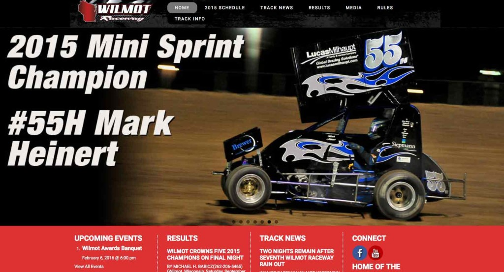 Wilmot Raceway Website